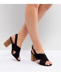 Park Lane - Wide Fit Block Heeled Sandals - Lyst