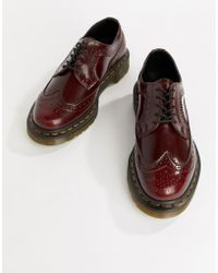 Dr. Martens - Vegan 3989 Cherry Leather Stacked Brogues - Lyst