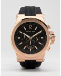 Michael Kors - Mk8184 Oversized Dylan Silicone Chronograph Watch - Lyst