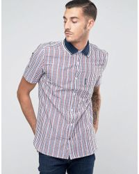 Lambretta - Shirt In Gingham With Short Sleeves - Lyst