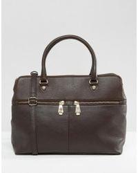 Ri2k - Leather Tote Bag - Brown - Lyst
