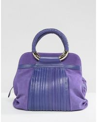 Ri2k - Leather And Suede Mix Bag - Lyst