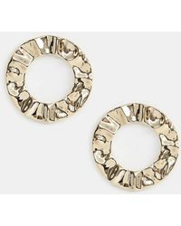 Missguided - Circle Statement Earrings In Gold - Lyst