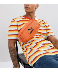 PUMA - Fanny Pack In Orange Exclusive To Asos - Lyst