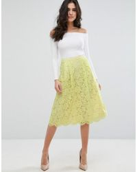 Darling - Lace Skater Skirt - Lyst