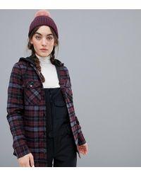 Volcom - Hooded Flannel Snowboard Jacket - Lyst