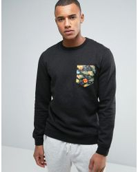 Volcom - Mocket Ii Printed Pocket Crew Jumper - Lyst