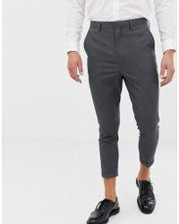 Only & Sons - Pantalon de costume court ajust - Lyst