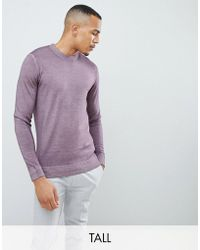 Ted Baker - Tall Crew Neck Sweater In Pink - Lyst
