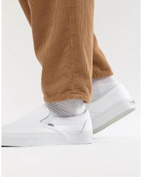 Vans - Classic Slip-on Plimsolls In White Veyew00 - Lyst