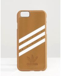 Adidas Originals | Originals 3 Stripe Iphone 6/6s Case In Sand - Khaki/white | Lyst