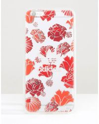 Adidas Originals | Originals Translucent Iphone 6 Plus In Floral Print - Bohemian Red | Lyst