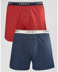 Esprit - Boxers 2 Pack In Star Print - Lyst
