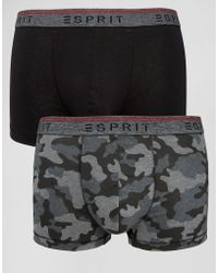 Esprit - Trunks 2 Pack In Camo - Lyst