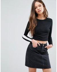 Daisy Street - Stripe Sweatshirt - Lyst