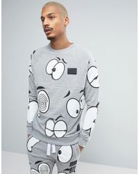 Cheats & Thieves - Look Out All Over Print Sweater - Lyst
