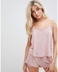 New Look - Lace Trim Pyjama Set - Lyst