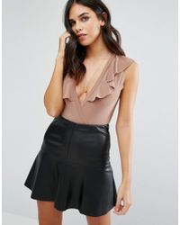 Love - Bodysuit With Frill - Lyst