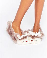 Boux Avenue - Reindeer Slipper - Lyst