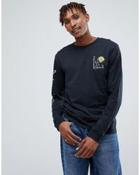 Volcom - Long Sleeve T-shirt With Rose Print - Lyst