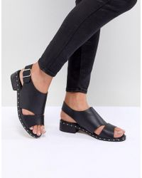 Truffle Collection - Faux Leather Sandal - Lyst