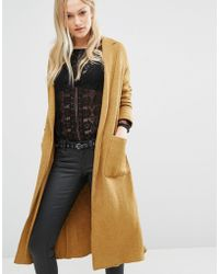 Pull&Bear - Coatigan Wool-Blend Duster Coat - Lyst