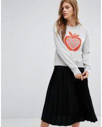 YMC - Apple Print Sweatshirt - Lyst