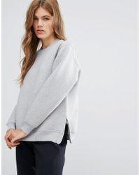YMC - Side Slit Sweatshirt - Lyst