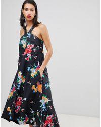 Sportmax Code - Floral Halter Midi Dress - Lyst