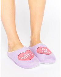 Daisy Street - Wifey For Lifey Slipper - Lyst