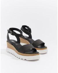 Sol Sana - Leather Flatform Sandals - Lyst