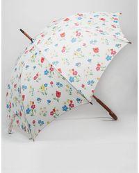 Cath Kidston - Kensington Walking Umbrella In Paradise Bunch Print - Lyst