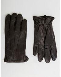 Jack & Jones - Gloves In Leather - Lyst