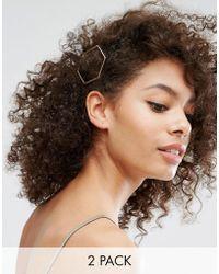 Nylon - 2 Pack Geo Hair Slides - Lyst