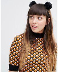 Monki - Pom Pom Headband - Lyst