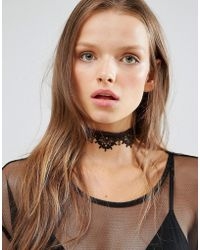 Monki | Exclusive Scallop Lace Choker Necklace | Lyst