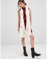 Nali - Multi Color Embroidery Lightweight Scarf - Lyst