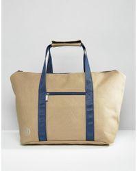 5754a05613cc Mi-Pac - Canvas Weekend Bag Stone - Lyst