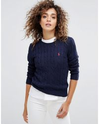Polo Ralph Lauren - Cable Knit Jumper - Lyst