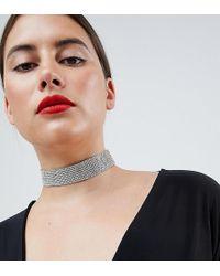 ASOS - Asos Design Curve Jewel Choker Necklace - Lyst