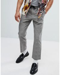 Mango - Man Prince Of Wales Check Trousers - Lyst