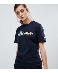 Ellesse - Relaxed T-shirt With World Map Front Logo - Lyst
