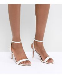 6155151ffc2c Lyst - ASOS Show Time Wide Fit Ribbon Lace Up Heels in Pink