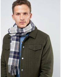 Glen Lossie | Lambswool Plaid Scarf In Blue | Lyst