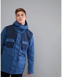 Billabong - Working Snow Jacket In Dark Blue - Lyst