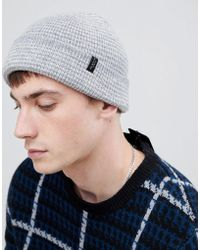 SELECTED - Beanie With Stripe Detail - Lyst