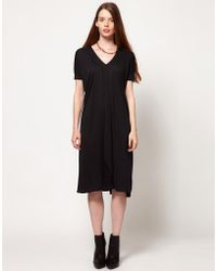 Dagmar | V Neck Dress With Ribbed Sleeves | Lyst
