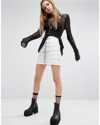 Tripp Nyc - Buckle Front Skirt - Lyst