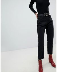 Lost Ink - High Waist Jeans In Straight Leg Fit - Lyst