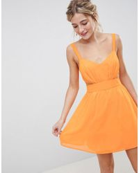 ASOS - Cut Out Mini Dress With Cami Straps - Lyst
